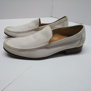 Cole Haan Venetian  White Loafers